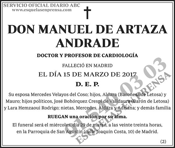 Manuel de Artaza Andrade